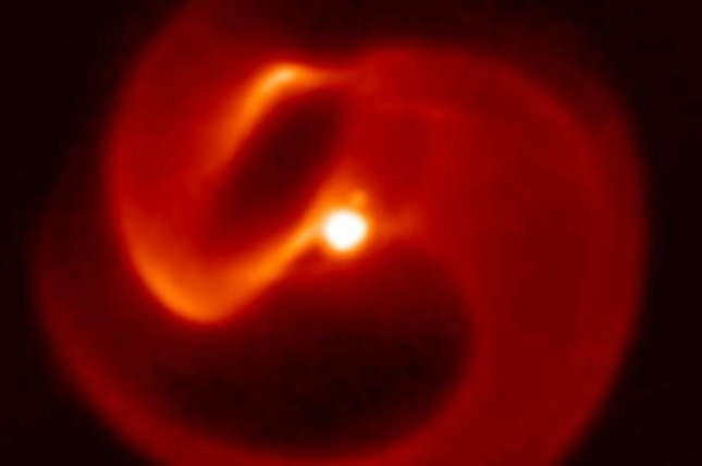 Researchers named the star system and its swirling dusty winds Apep after the serpentine Egyptian god of chaos. Photo by the University of Sydney