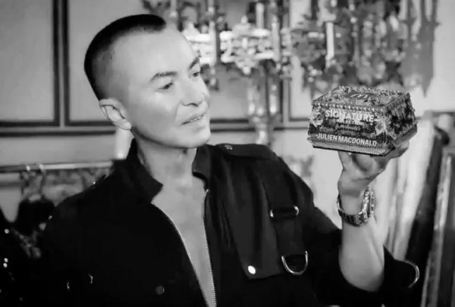 Designer Julien Macdonald created a jewel-encrusted McDonald's box to celebrate the restaurant's expansion of the Signature Collection of burgers throughout the United Kingdom.