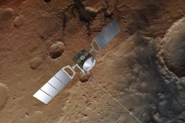 The European Space Agency's Mars Express probe measured methane in the Martian atmosphere a day after NASA's Curiosity rover detected the gas in Gale Crater. Photo by ESA