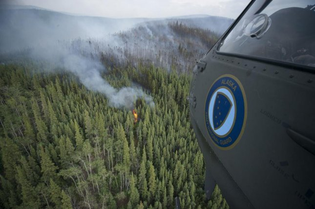 Researchers speculate that climate change could lead to conditions favorable for wildfires in Alaska. Photo Courtesy Sherman Hogue/Fort Wainwright Public Affairs Office