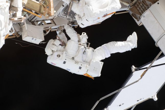 Friday's mission was astronaut Nick Hague's second spacewalk in two weeks. Photo by NASA