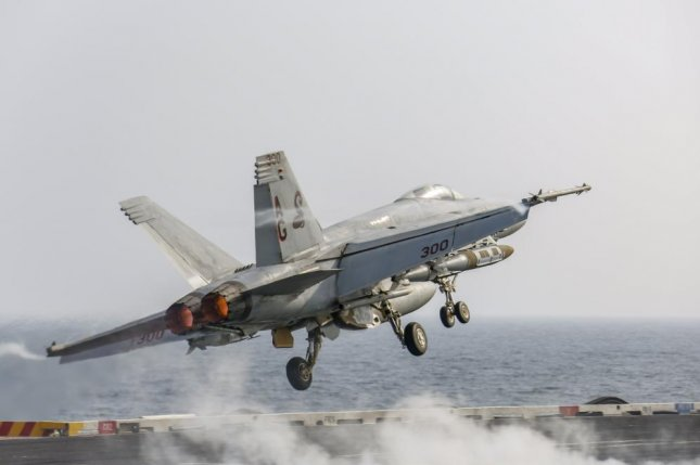 "The F/A-18 E/F ""Super Hornet"" and EA-18G ""Growler"" naval fleets have both reached 80 percent mission-capable readiness, a target mandated by former Secretary of Defense James Mattis. Photo by Mass Communication Specialist 3rd Class Michael Singley/U.S. Navy"