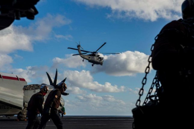The USS Dwight D. Eisenhower Carrier Strike Group conducted flight operations near the Canary Islands, the Navy reported on Sunday. Photo courtesy of U.S. Navy.