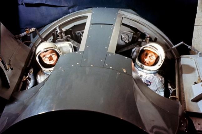 Fifty years ago, NASA's Gemini 3 spacecraft, dubbed the Molly Brown, lifted off carrying the first two-person crew (and a contraband corned beef sandwich) into orbit for the United States. File Photo by NASA