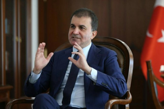 Omer Celik, Turkey's chief negotiator and minister of European Union affairs, on Wednesday rejected claims of a cease-fire between Turkish forces and Kurdish militias in the Syrian town of Jarablus recently freed from Islamic State control. Photo courtesy of Turkish Government
