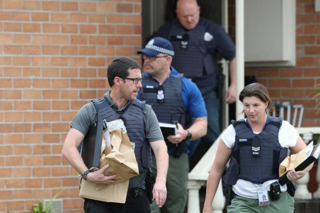 Police raid a home in Melbourne, Australia, Tuesday that led to the arrests of three men officials say were plotting a terrorist attack. Photo by David Crosling/EPA-EFE