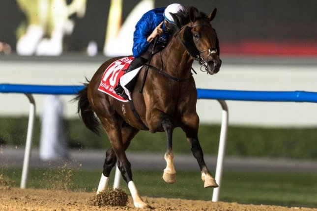 Thunder Snow, seen winning the 2018 Dubai World Cup, looks to step up to this year's edition with a good showing in Saturday's Group 1 Maktoum Challenge Round 3 at Meydan. Dubai Racing Club photo