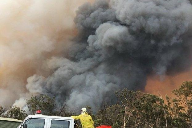 Australia's New South Wales Rural Fire Service reported fire-generated thunderstorms as more than 100 bushfires continue to burn in the state. Photo courtesy NSWRFS