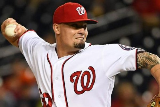 Washington Nationals closer Koda Glover was placed on the disabled list after experiencing lower back stiffness while in the shower. Photo courtesy of theScore/Twitter
