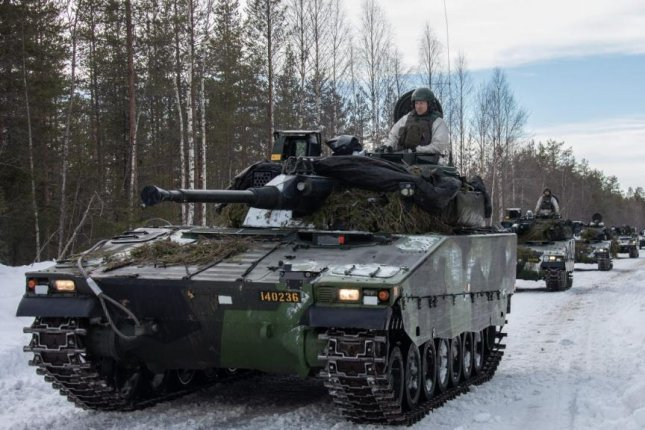 The Stockholm International Peace Research Institute said on Monday that global military spending reached $1.9 trillion in 2019. Photo by Jesper Sundstrom/Swedish Armed Forces