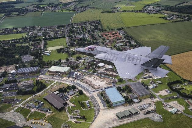 The British Ministry of Defense is finalizing plans to construct a new aircraft hangar and upgrade facilities for a fleet of 12 F-35 Lightning II aircraft expected to be delivered next year. Photo courtesy British Ministry of Defense