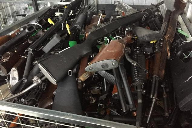 Police in New Zealand said 224 banned firearms and 217 gun parts and accessories were turned over in the country's first buyback event since a deadly mass shooting in March left 51 people dead at two Christchurch mosques. Photo courtesy of New Zealand Police
