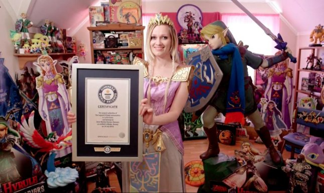 Anne Martha Harnes of Norway set the Guinness World Record for the largest collection of The Legend of Zelda memorabilia, totaling more than 1,816 individual items.