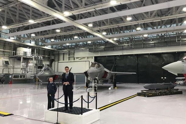 British Defense Minister Gavin Williamson declared the newly-purchased F-35B fighter planes to be combat-ready on Thursday in ceremonies at the Royal Air Force base in Marnham, England. Photo courtesy of British Defense Ministry