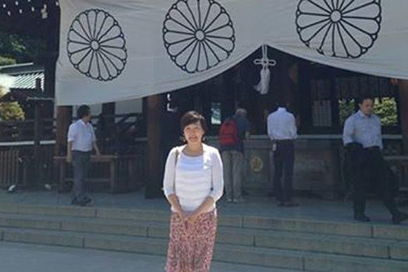 Akie Abe's visit to the controversial Shinto shrine to Japan's war dead is expected to anger Beijing and Seoul. Photo courtesy of Akie Abe/Facebook