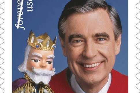 Television icon Mister Rogers was honored with a U.S. commemorative postage stamp on Friday. Photo copyright 2018 courtesy of U.S. Postal Service