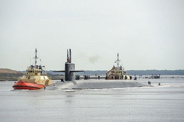 The Ohio-class ballistic-missile submarine USS Wyoming returns to Naval Submarine Base Kings Bay, Ga. The Navy plans to replace the Ohio-class subs with the Colombia-class. Photo by Electronics Technician First Class Mark Treen/U.S. Navy