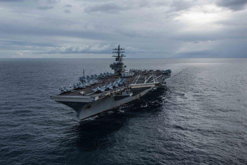 The U.S. Navy's forward-deployed aircraft carrier USS Ronald Reagan cruises during Talisman Sabre 2019. Photo byKaila V. Peters/U.S. Navy