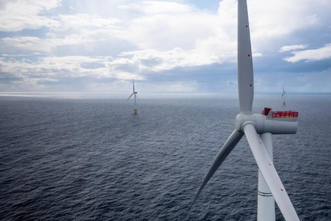 Norwegian energy company Statoil said its floating wind farm off the Scottish coast holds promise for future deepwater installations. Photo courtesy of Statoil