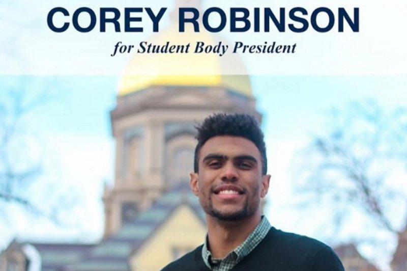 Notre Dame wide receiver Corey Robinson retires