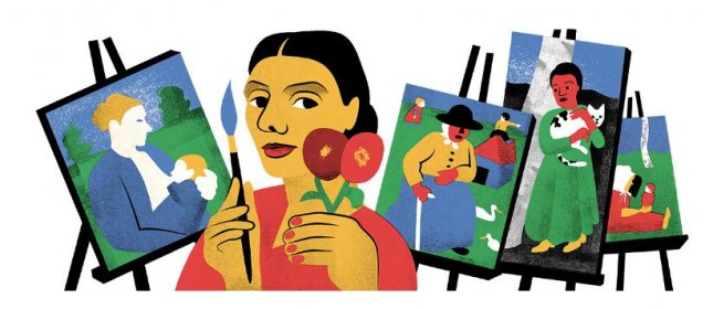 Google is paying homage to painter Paula Modersohn-Becker with a new Doodle. Image courtesy of Google