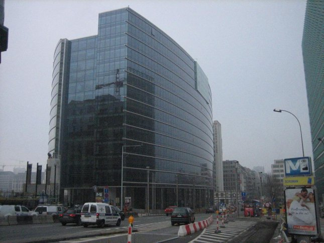 The European Union's Lex Building in Brussels, Belgium. European Union countries will absorb and share 40,000 Syrian and Eritrean refugees under a plan unveiled in Brussels Wednesday. Photo courtesy wikimedia.org/ J. Logan.