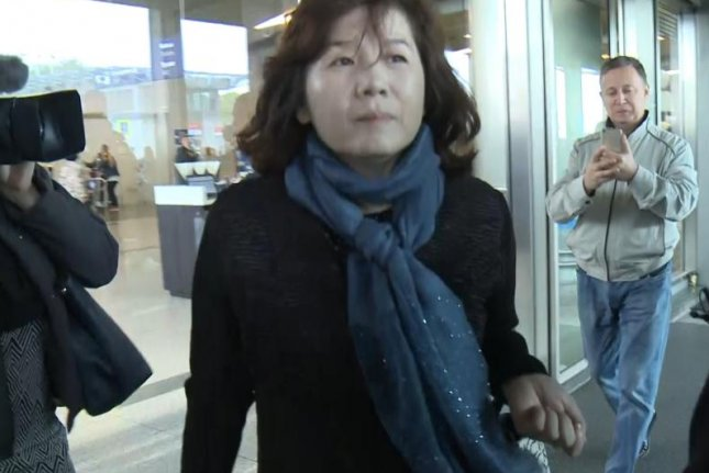 Choi Sun Hee, the North America bureau chief of Pyongyang's foreign ministry, was seen at Vnukovo International Airport, southwest of Moscow, on Tuesday. Photo by Yonhap