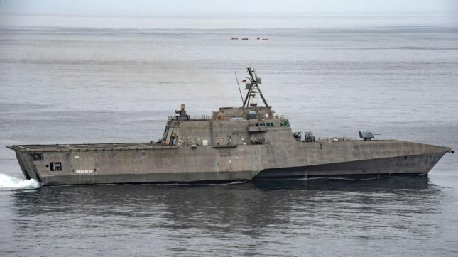 The littoral combat ship USS Gabrielle Giffords, equipped with Naval Strike Missiles, was deployed to the Indo-Pacific theater of operations on September 3, 2019. Photo by MCS1 Josiah Kunkle/U.S. Navy