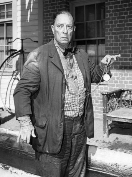1961 CBS Television photo of Buster Keaton in the television program The Twilight Zone. Courtesy of Wikimedia Commons