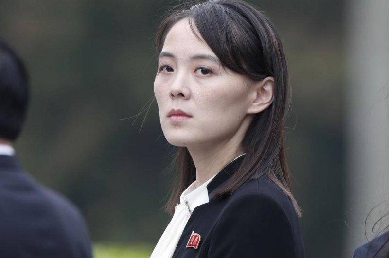 Kim Yo Jong, deputy director of North Korea's Propaganda and Agitation Department, is growing in power, a South Korean lawmaker says. File Photo by Jorge Silva/EPA-EFE