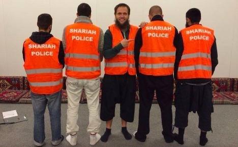 A photo of Wuppertal, Germany, vigilantes (Shariah Police/ Facebook)
