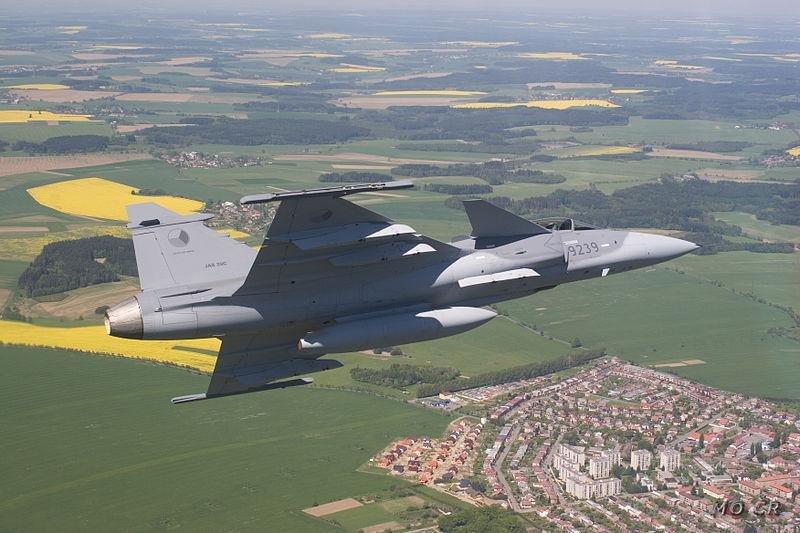 A Gripen flown by the Czech Republic. (Czech government photo)