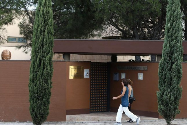 The North Korean embassy in Madrid, Spain, was raided last month. File Photo by EPA-EFE/MARISCAL