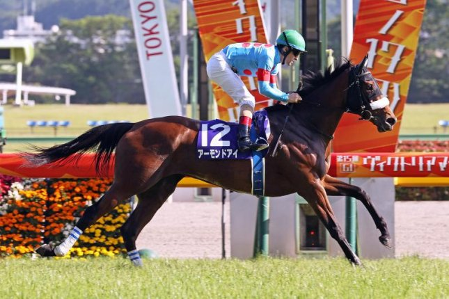 Almond Eye romps in Sunday's Grade 1 Victoria Mile in Tokyo. Photo courtesy of Japan Racing Association
