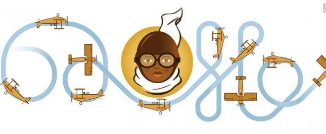 Google is paying homage to aviation specialist Bessie Coleman with a new Doodle. Photo courtesy of Google.