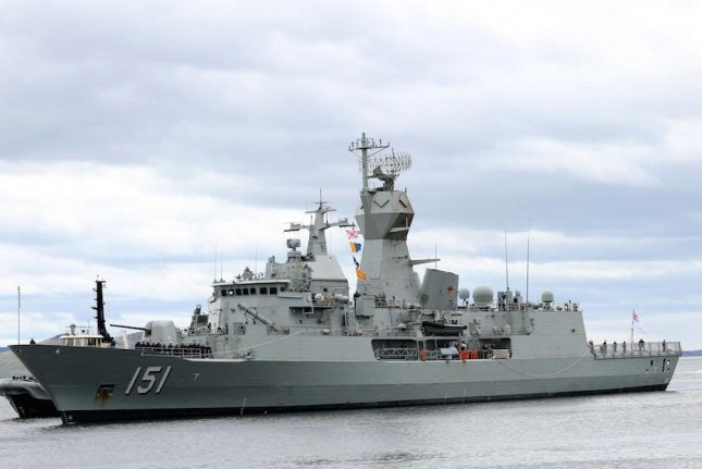 BAE Systems in Australia announced it has installed a new mast on the Anzac-class frigate HMAS Arunta, which has been undergoing modernization and upgrades since 2017. Photo courtesy of the Royal Australia Navy