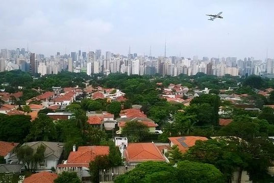 A small airplane crashed in a residential area in Sao Paulo, Brazil on Friday Nov. 30, 2018 killing two, and injuring about a dozen people. Image shows the city of Sao Paulo. Photo courtesy of IvaCastro/Pixabay