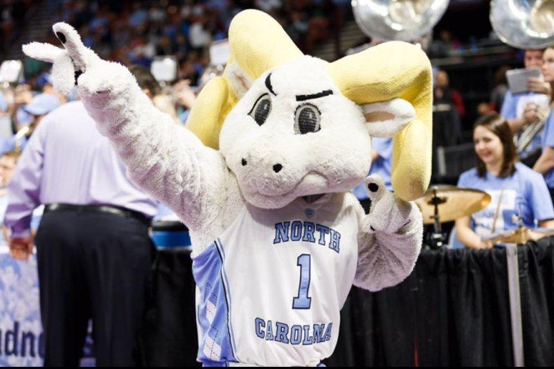The University of North Carolina Tar Heels' mascot. (Carolina Basketball/Twitter)