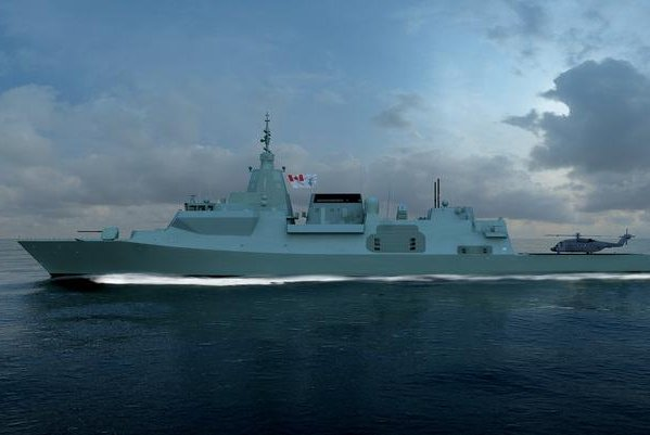 This is an artist's rendering of the British Type 26 frigate, which will be a similar design for 15 ships in Canada. Image courtesy BAE Systems
