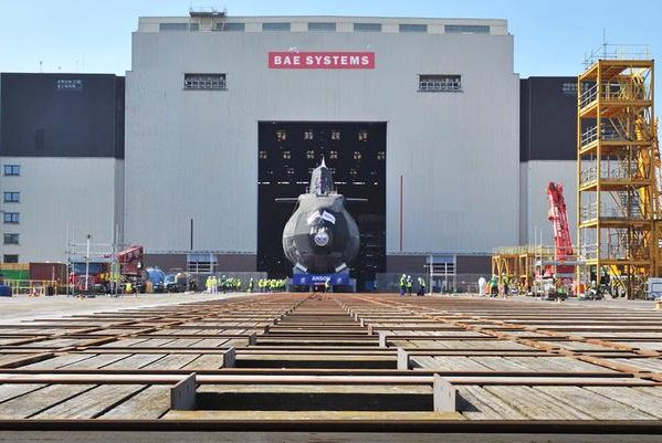 Anson, the fifth of seven Astute-class submarines BAE is building for the British Royal Navy, was launched on Tuesday. Photo courtesy of BAE Systems