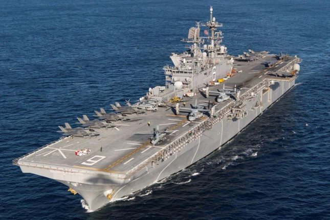 The amphibious assault ship USS America, pictured, and the landing platform dock USS New Orleans will forward-deploy to join the 7th Fleet in Japan, the U.S. Navy announced on Friday. Photo courtesy of U.S. Navy
