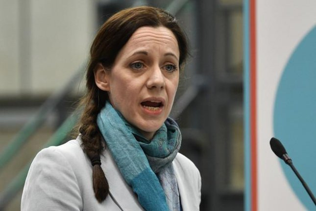 Annunziata Rees-Mogg, seen here in Coventry, Britain, in April, announced Thursday she and two other Members of European Parliament had resigned from the Brexit Party to back Conservatives in next week's British elections. File photo by Neil Hall/EPA-EFE