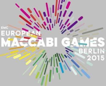 The logo of the Maccabi Games, which begin Tuesday in Berlin. Photo courtesy of Maccabi Games.