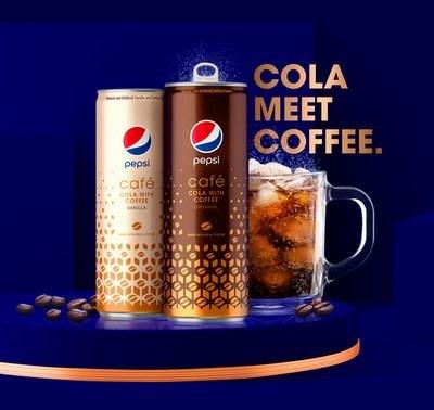 The hybrid cola-coffee beverage will arrive in April, Pepsi said. Photo courtesy PepsiCo.