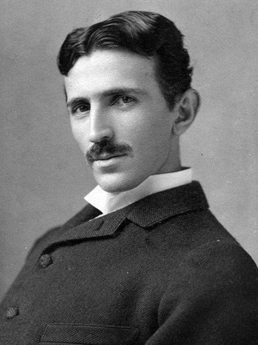 Nikola Tesla at age 34.