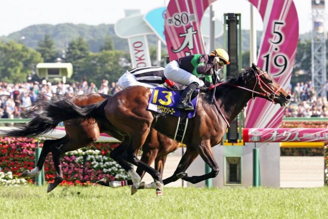 Loves Only You remains undefeated with a close victory in Sunday's Grade 1 Japanese Oaks at Tokyo Racecourse. Photo courtesy of Japanese Racing Association