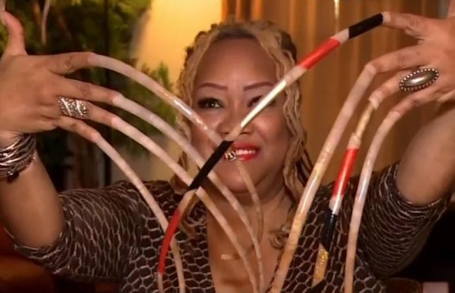Who has the longest nails