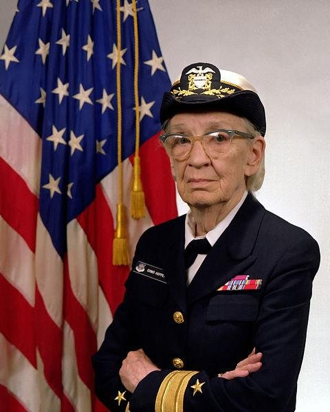 Commodore Grace M. Hopper, USN. Photo courtesy US Navy