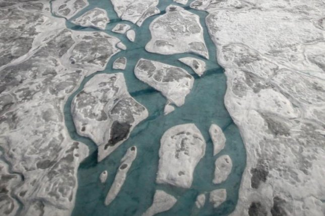 Some of Greenland's subglacial lakes are fed by surface meltwater that drains to the base of the ice sheet. Photo by Andrew Sole/University of Sheffield