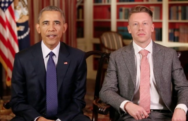 President Barack Obama was joined by Grammy Award-winning artist Macklemore for his weekly address as the two discussed legislation surrounding opioid abuse in the United States. President Obama addressed the recent passage of multiple laws regarding opioids, but called for congress to consider his proposal for an additional $1.1 billion in funding for drug abuse programs.  Screen capture/The White House/YouTube